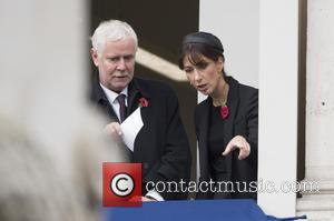 Samantha Cameron - Members of the Royal family  attends the Remembrance Day Ceremony at the Cenotaph Whitehall, to commemorate...