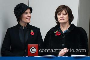 Justine Thornton and Cherie Blair - Photographs from the Remembrance Sunday service held at the Cenotaph to remember those brave...
