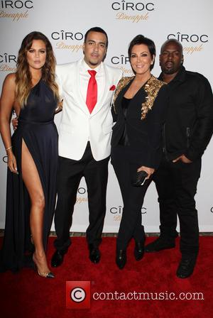 Khloé Kardashian, French Montana, Kris Jenner and Corey Gamble