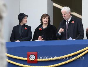 Cherie Blair and Samantha Cameron - Remembrance Sunday Service at The Cenotaph, Whitehall - London, United Kingdom - Sunday 9th...