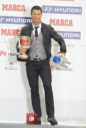 Cristiano Ronaldo - Real Madrid's Portuguese striker Cristiano Ronaldo receives the 'Pichichi' Award  at the Marca Newspaper Awards held...