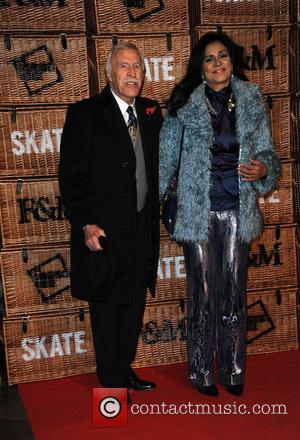 Bruce Forsyth and Wilnelia Merced - SKATE launch party at Somerset House - Arrivals at Somerset House - London, United...