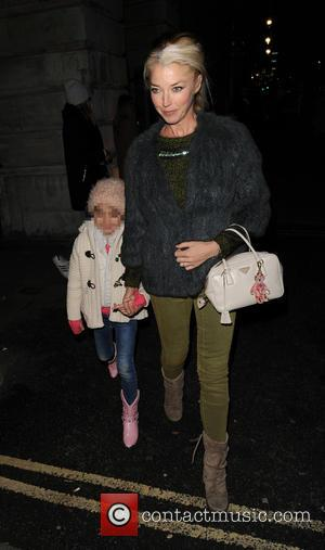 Tamara Beckwith and Violet Rose - Tamara Beckwith and her daughter arrive at Somerset House for the SKATE launch party...