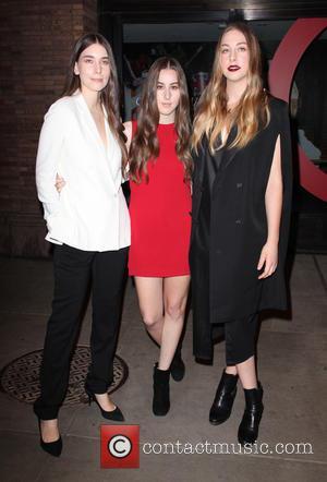 Danielle Haim, Alana Haim and Este Haim - Shots of a variety of stars as they arrived outside the Glamour...