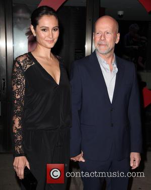 Emma Heming and Bruce Willis - Shots of a variety of stars as they arrived outside the Glamour Women of...