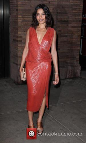 Freida Pinto - Shots of a variety of stars as they arrived outside the Glamour Women of The Year Awards...