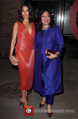 Freida Pinto and Mira Nair