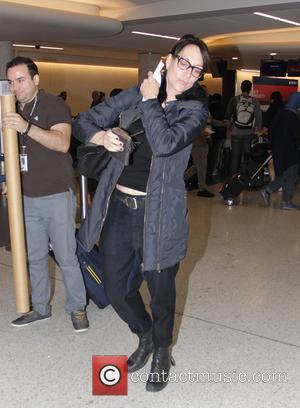 Katey Sagal - Katey Sagal at Los Angeles International Airport (LAX) to catch a flight at Los Angeles International Airport...