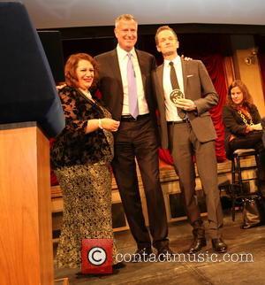 Cynthia Lopez, Bill De Blasio and Neil Patrick Harris
