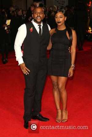 Alexandra Burke and brother - 'Shots from the red carpet ahead of the world premiere of the latest film in...