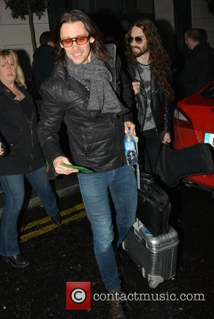 Myles Kennedy - Slash featuring Myles Kennedy & The Conspirators play 3 Arena tonight, seen leaving The Morrison Hotel and...