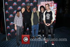 The Rock of Ages band - Photographs from Broadway's Rock Of Ages cast change party as the stars arrived for...