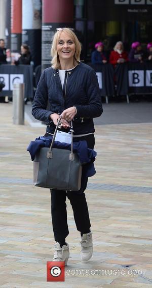 Louise Minchin - Celebrities leave the BBC Breakfast studios at MediaCityUK - Manchester, United Kingdom - Tuesday 11th November 2014