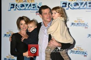 Dylan Walsh and Family - Disney On Ice presents 'Frozen' at The Barclay's Center in Brooklyn - Arrivals at Barclays...