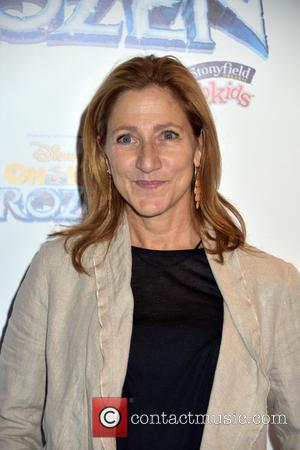 Edie Falco - Disney On Ice presents 'Frozen' at The Barclay's Center in Brooklyn - Arrivals at Barclays Center, Disney...
