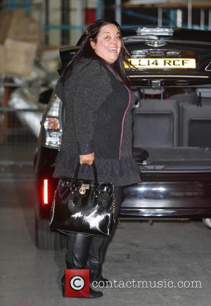 Lisa Riley - Lisa Riley outside the ITV studios - London, United Kingdom - Tuesday 11th November 2014