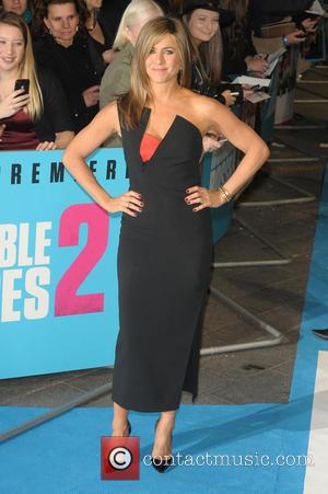 Jennifer Aniston - Shots of the stars from 'Horrible Bosses 2' as they arrived at the UK film premiere in...