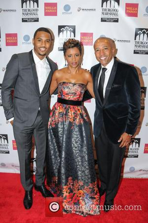 Trey Songz, April Tucker and Kevin Liles