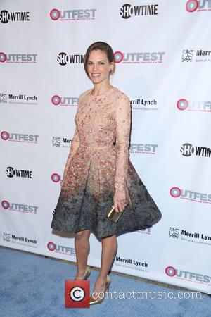 Hilary Swank - Stars were snapped as they arrived at the 2014 Outfest Legacy Awards which were held at the...