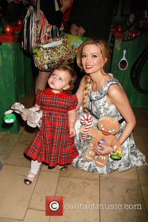 Holly Madison and Rainbow Rotella - Holly Madison and daughter Rainbow Aurora Rotella at Dreamworks Animation