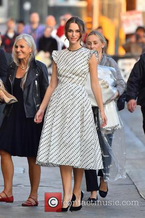 Kiera Knightley - Kiera Knightley is all smiles at Jimmy Kimmel wearing polka dots - Los Angeles, California, United States...