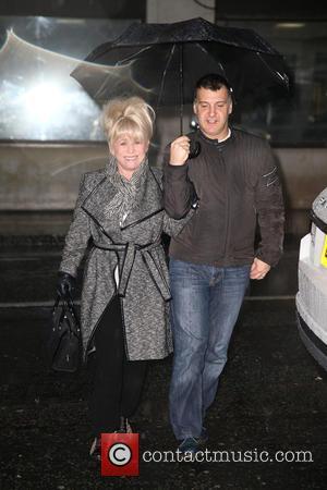 Barbara Windsor and Scott Mitchell - Celebrities at the BBC Radio 2 studios at BBC Portland Place - London, United...
