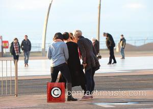 Judy Murray, Caroline Flack, Frankie Bridge and Sunetra Sarker - Stars from Strictly come dancing out on Blackpool Prom -...