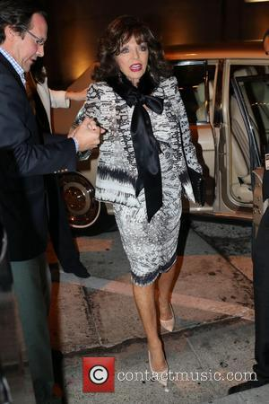 Joan Collins and Percy Gibson - Joan Collins and Percy Gibson have dinner at Craig's at West Hollywood - Los...