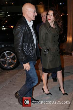 Patrick Stewart and Sunny Ozell - Patrick Stewart and wife, Sunny Ozell dine at Craig's in West Hollywood at West...