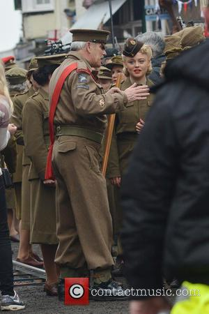 Emily Atack - Bridlington, Yorkshire transforms into Walmington-on-Sea for the filming of the feature film 'Dad's Army,' slated for release...