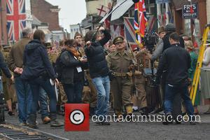 Toby Jones - Bridlington, Yorkshire transforms into Walmington-on-Sea for the filming of the feature film 'Dad's Army,' slated for release...