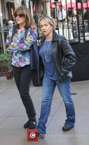 Gabrielle Carteris - Gabrielle Carteris out shopping at The Grove with a friend - Hollywood, California, United States - Saturday...