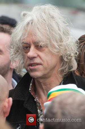 Sir Bob Geldof - Band Aid 30 recording held at Sarm Studios in Notting Hill - Arrivals. - London, United...