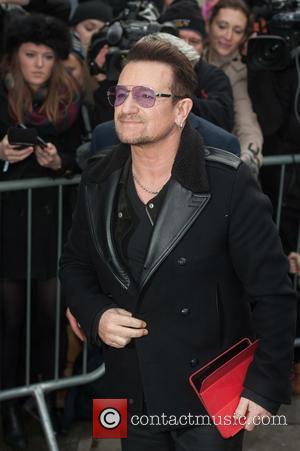 Bono - Band Aid 30 recording held at Sarm Studios in Notting Hill - Arrivals. - London, United Kingdom -...