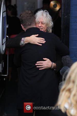 Sam Smith and Sir Bob Geldof - Celebrities at the Sarm studios to record the Band Aid 30 single 'Do...