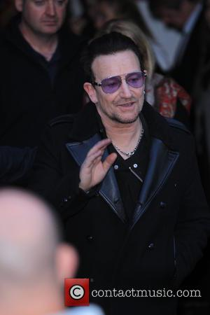 Bono - Celebrities arrive at Sarm Studios to record the Band Aid 30 single 'Do they Know It's Christmas.' The...