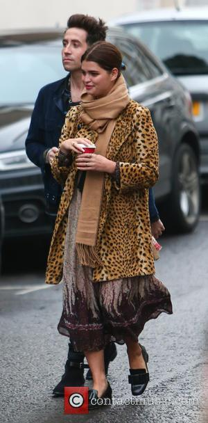 Pixie Geldof and Nick Grimshaw - Photographs of a variety of musical stars as they arrive at SARM Studio to...