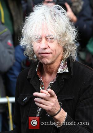 Bob Geldof - Photographs of a variety of musical stars as they arrive at SARM Studio to record the 2014...