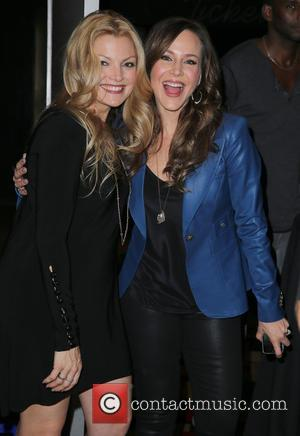 Clare Kramer and Julie Benz