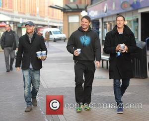 Jake Wood, Steve Backshall and Brendon Cole - Celebrities and their dancers arrive at the Blackpool Tower Ballroom for tonight...