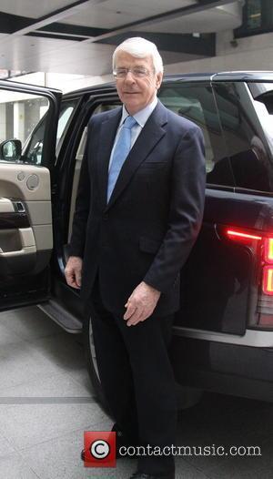 John Major - Former Prime Minister John Major seen leaving BBC Broadcasting House in London after The Andrew Marr Show....