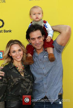 Johnathon Schaech, Camden Schaech and Julie Solomon - Photographs from the PS Arts Express Yourself Event as a variety of...