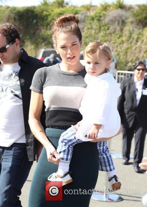 Amanda Righetti and Knox Addison Alan - P.S. ARTS Express Yourself Event 2014 held at Barker Hangar - Arrivals -...