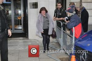 Susan Boyle - Susan Boyle seen at Radio. On the way out shegave a flash of her leg. - London,...