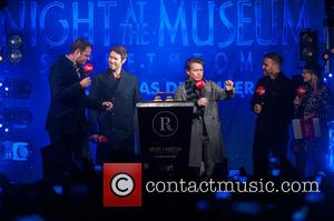 Jamie Theakston, Emma Bunton, Take That, Gary Barlow, Howard Donald and Mark Owen