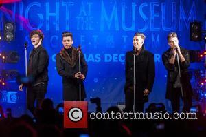 Union J, Josh Cuthbert, JJ Hamblett, Jaymi Hensley and George Shelley - Take That switch on the Regent Street Christmas...