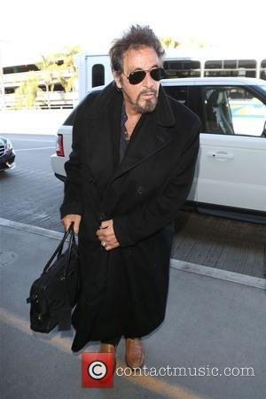 Al Pacino - Al Pacino and Lucila Sola at Los Angeles International Airport (LAX) - Los Angeles, California, United States...
