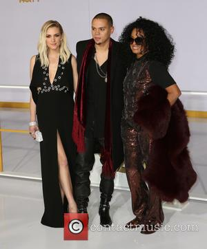 Ashlee Simpson, Evan Ross and Diana Ross