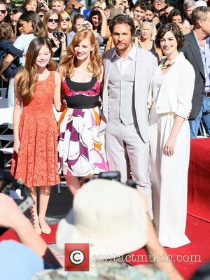 Mackenzie Foy, Jessica Chastain, Matthew McConaughey and Anne Hathaway - Matthew McConaughey honored with a star on The Hollywood Walk...