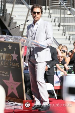 Matthew McConaughey - Matthew McConaughey honored with a star on The Hollywood Walk of Fame at Hollywood - Los Angeles,...